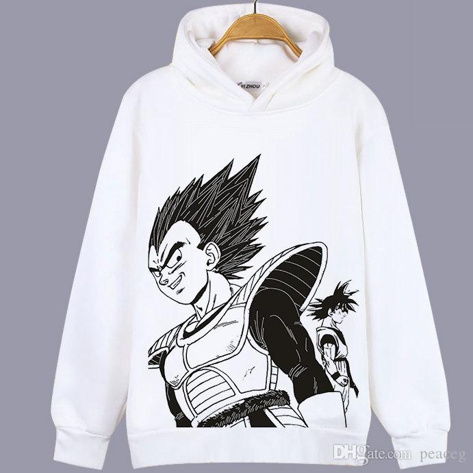 Bejita Yonsei Sweat à capuche sweat-shirt de dragon de balle Vegeta IV unisexe Cartoon tête sweat à capuche sweat colorfast pull qualité