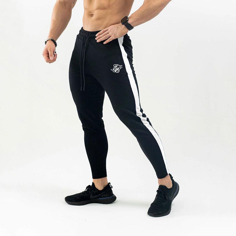 Siksilk осень новые мужские фитнес тренировочные брюки Мужские тренажерные залы бодибилдинг тренировки хлопчатобумажные брюки повседневные бегуны спортивная одежда карандаш брюки MX200323