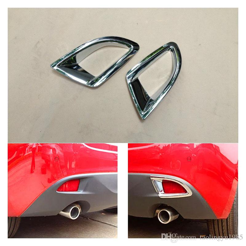 A guarnição da lâmpada da luz de névoa da parte traseira do cromo do ABS para Mazda 3 Axela 2013-2016 Hatchback