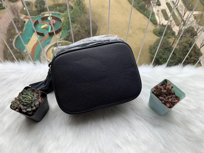 2020 Top Qualität Designer-Handtaschen Geldbörse Frauen Handtaschen Umhängetasche Soho-Tasche Disco-Umhängetasche mit Fransen Messenger Bags Purse 22cm schwarz