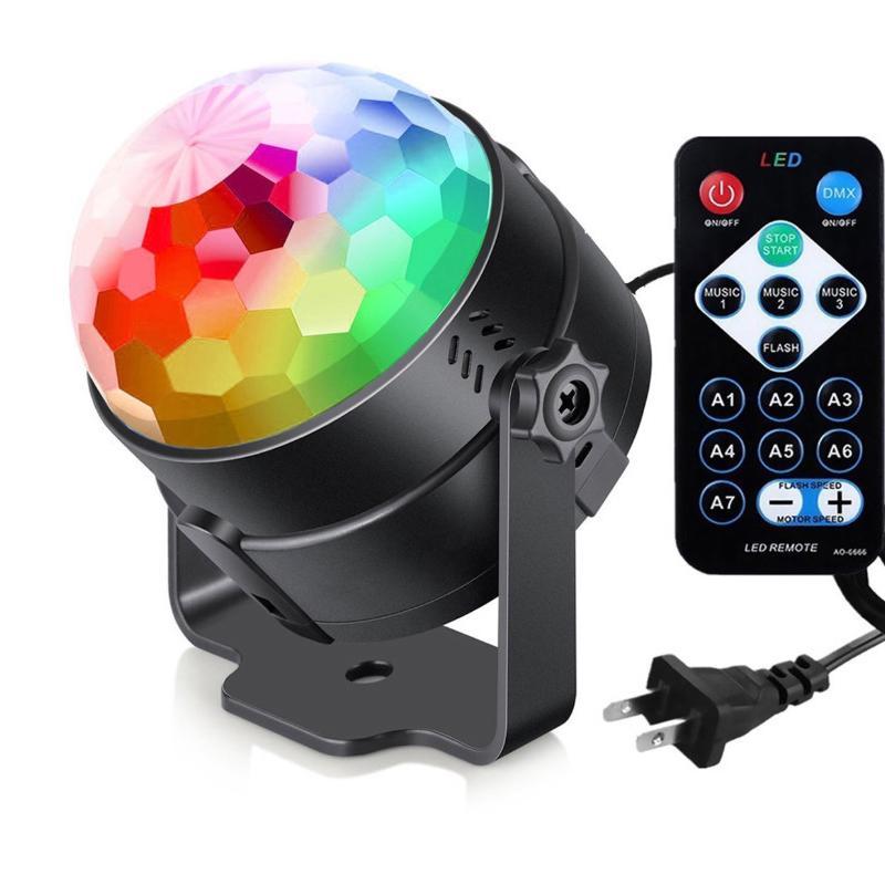 Colorful Crystal Magic Ball Rotating Lantern LED Small Magic Ball Stage Light DJ Festival Projection Light Atmosphere Light 10112