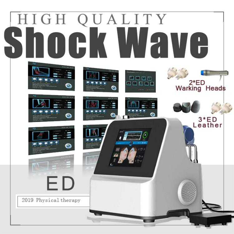 2020 Yeni Tasarım Güzellik Makinası Şok Dalga Tedavisi Makinesi Güç Vibratör ED Elektromanyetik Extracorporeal Analjezik Masaj