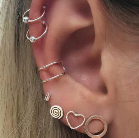 Fake Cheater Ear Plug Gold Plated Earring Body Jewellery Net Stone
