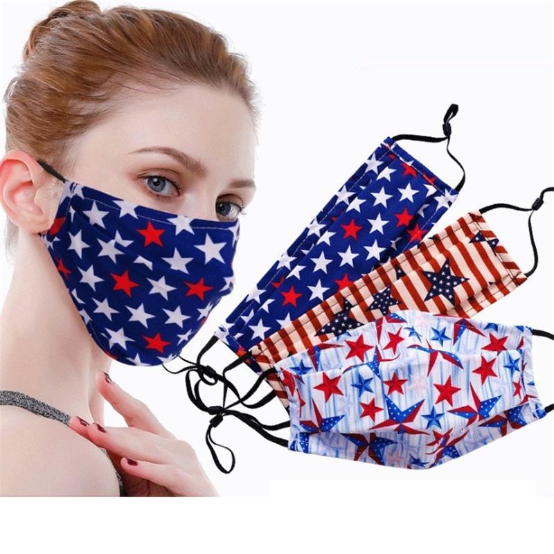 American Independence Day Maske Falten atmungsDruckMaske dreidimensionale männliche und weibliche Dose saubere Baumwollmaske T3I5794