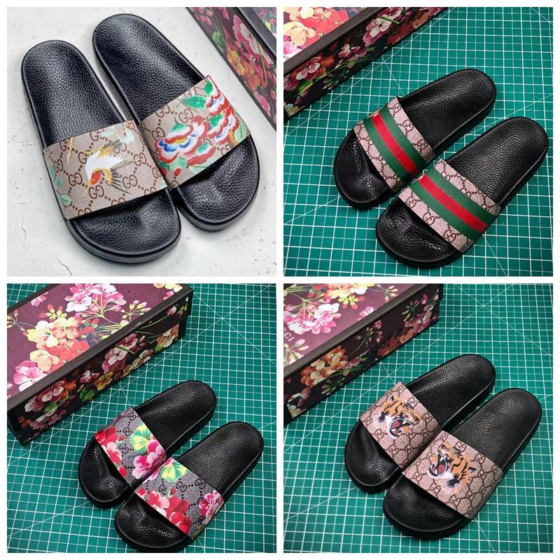 20ss Designer Luxo Rubber Slides Homens Mulheres Chinelo Floral 3D Brocade Sandals Praia Deslize Moda Causal Chinelos Sliders Flip Flops 36-45