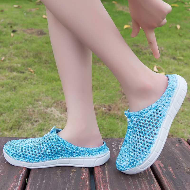 Zapatillas de mujer EVA verano zapatos casuales planos sandalias de playa transpirables zapatos de agua para mujer Flip Flop diapositivas de peso ligero