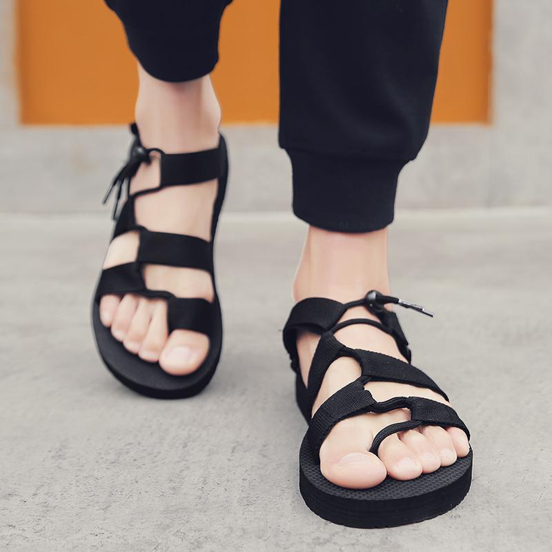 Горячая распродажа-мужские сандалии гладиаторы повседневная римская обувь снаружи дышащие мужские сандалии лето удобные легкие сандалии Hombre плюс размер 45