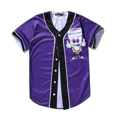 نمط جديد الرجال البيسبول الفانيلة الرياضة القميص مع زر 3D أزياء نوعية جيدة 53