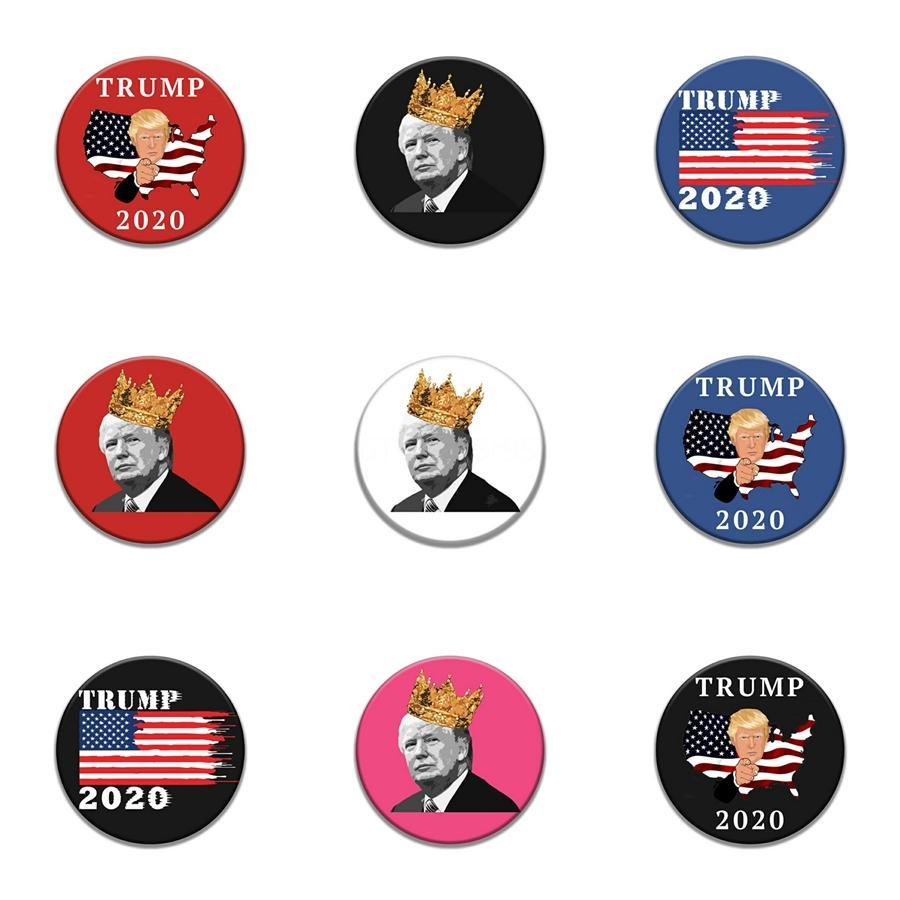 10 1 Stück schwarz Glauben gestickter Trump Badge Aufnäher für Kleidung Eisen-Flecken für Kleidung Applikationen Nähzubehör Auf Kleidung Eisen auf # 71