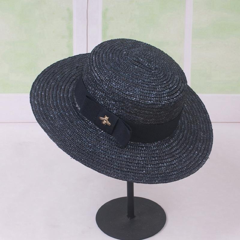 الجملة النحلة الصغير شاطئ كاب الصيف مصمم الأزياء القبعات قبعة صغيرة للشارع المرأة قابل للتعديل القبعات النسائية القبعة شاطئ بريم Hat1