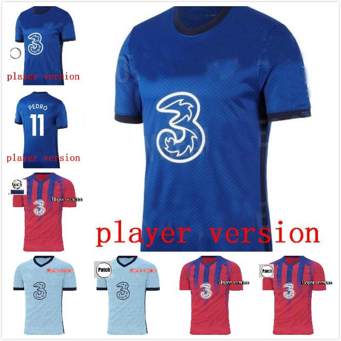 Version du joueur 19 20 Jersey Soccer Willian Pulisic Shirt Mount Camiseta Abraham Barkley Camisa 2019 2020 Kante Lampard Maillot