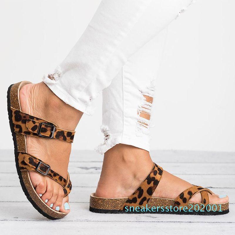 Hot Sale-2019-Sommer-Strand-Sandelholz-Frauen Flache Sandalen Slides Chaussures Femme Clog plus beiläufige Flip Flops Schuhe Frau
