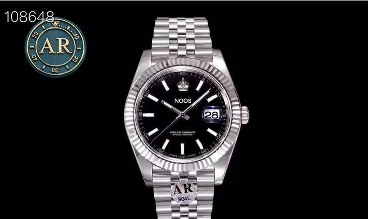 AR 126334-3 montre DE luxe 2824 Bewegung Uhren 904L verfeinert wasserdicht 200m Stahl Designer-Uhren 41mm Durchmesser