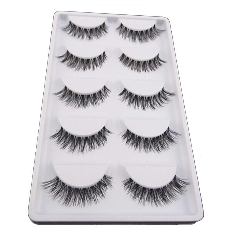 30PairMakeup Natural False Eyelashes Thick Eyelashes Long Crisscross Eyelash Extensions 3D Fake Cilios Posticos Lashes