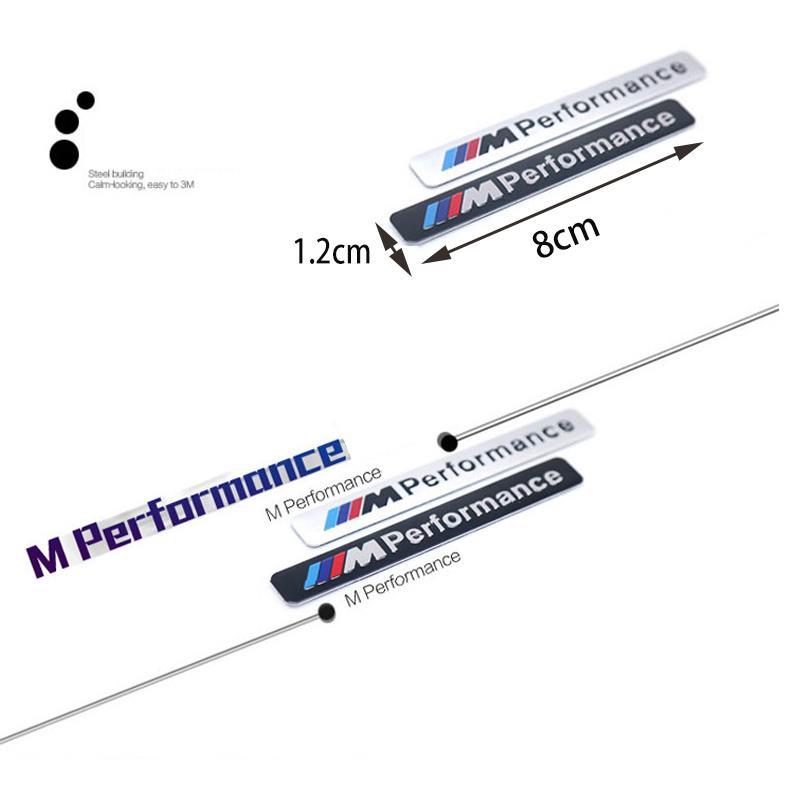 Car Styling Bmw E60 E61 E90 F13 F16 Sport M Potenza Performance Logo Distintivo Alluminio Metallo Emblem Sticker Decal