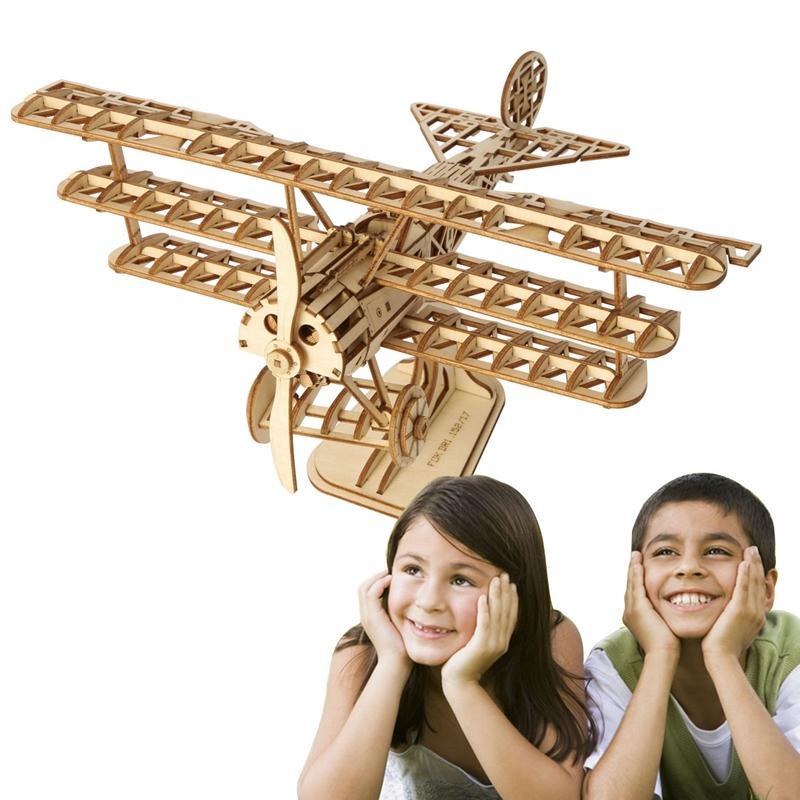 3D الليزر قطع الخشب الطائرة لغز لعبة هدية لطفل جدي نموذج البناء مجموعات شعبية لعبة الهوايات TG301