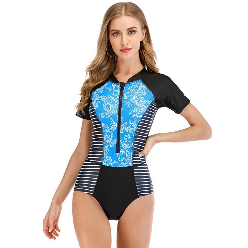 المرأة مثير ملابس السباحة Rashguard قطعة واحدة ملابس السباحة ركوب الأمواج ملابس السباحة بدلة السباحة ملابس الشاطئ تصفح ارتداءها طفح الحرس Monokini ملابس يجوز