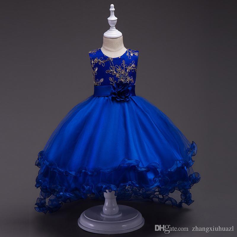 Compre En Stock Vestidos De Una Línea De Flores Para Niñas Vestidos De Encaje Para Niñas Vestidos De 2019 Para Niña Vestido De Comunión Para Niños