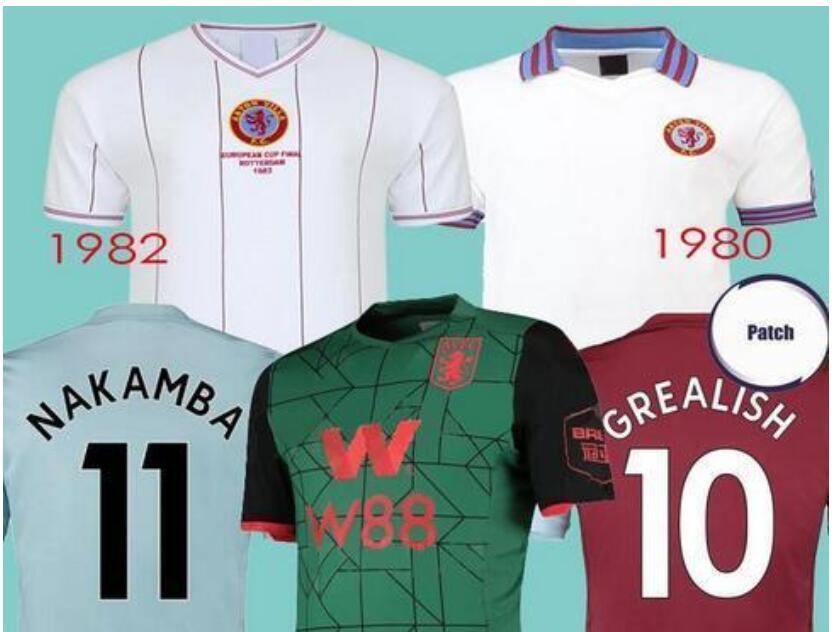 Aston Villa 1980 Away Shirt Mens Football Fanatics