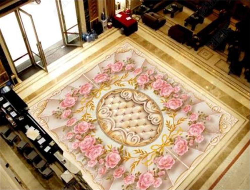 Papel tapiz personalizado de alta calidad clásica hotel familiar 3D piso mural