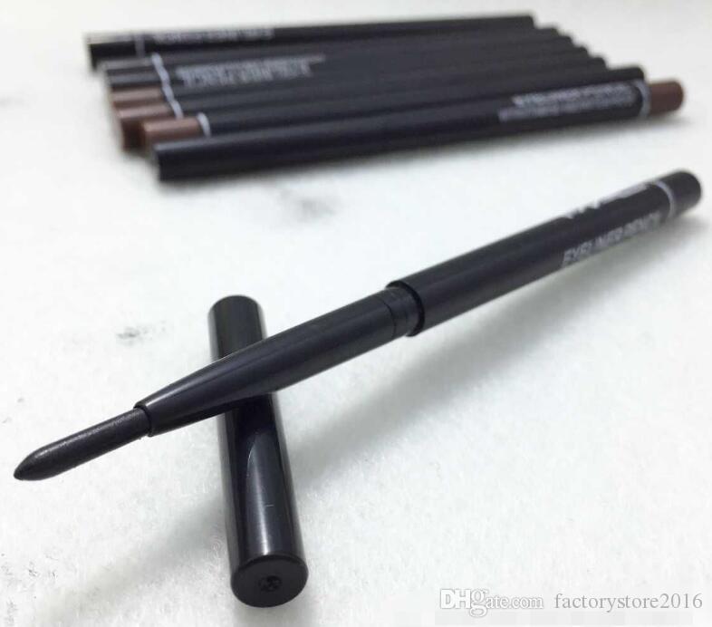 Venta al por mayor maquillaje de las mujeres retráctil rotatorio delineador de ojos lápiz delineador de ojos lápiz lápiz herramienta de maquillaje negro marrón colores