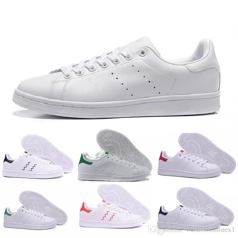 Acheter Adidas Stan Smith 2019 Raf Simons Stan Smith Printemps Cuivre Blanc  Rose Noir Mode En Cuir Marque Femme Mens Flats Sneakers Casual Chaussures  ...