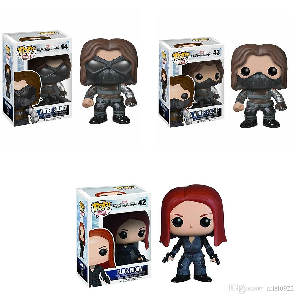 Funko POP Captain America Black-Widow WINTER SOLDAT Actionfiguren Toy For Kids