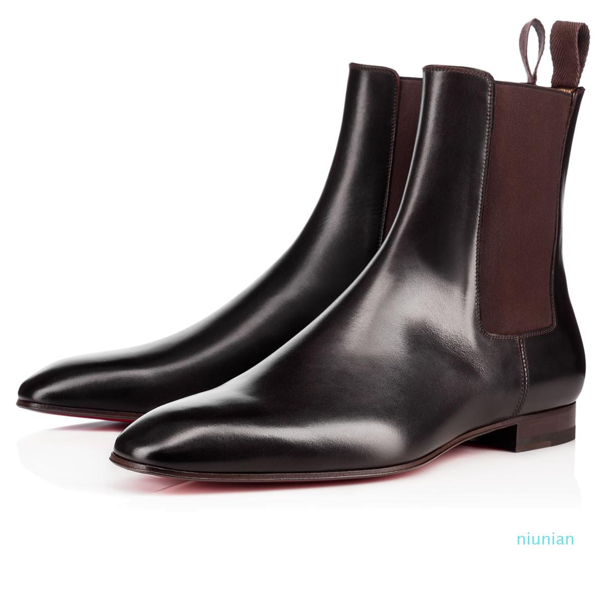 Hot Sale- Roadie Flat For Men Ankle Boots Design Comfortable Genuine Leather Perfect Party Dress Wedding Walking EU38-47