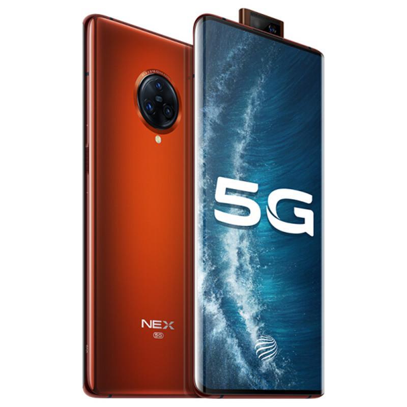 "Original VIVO Nex 3S 5G Mobile Phone 12GB RAM 256GB ROM Snapdragon 865 Octa Core 64.0MP AR OTG NFC 4500mAh Android 6.89"" AMOLED Full Screen Fingerprint ID Smart Cell Phone"