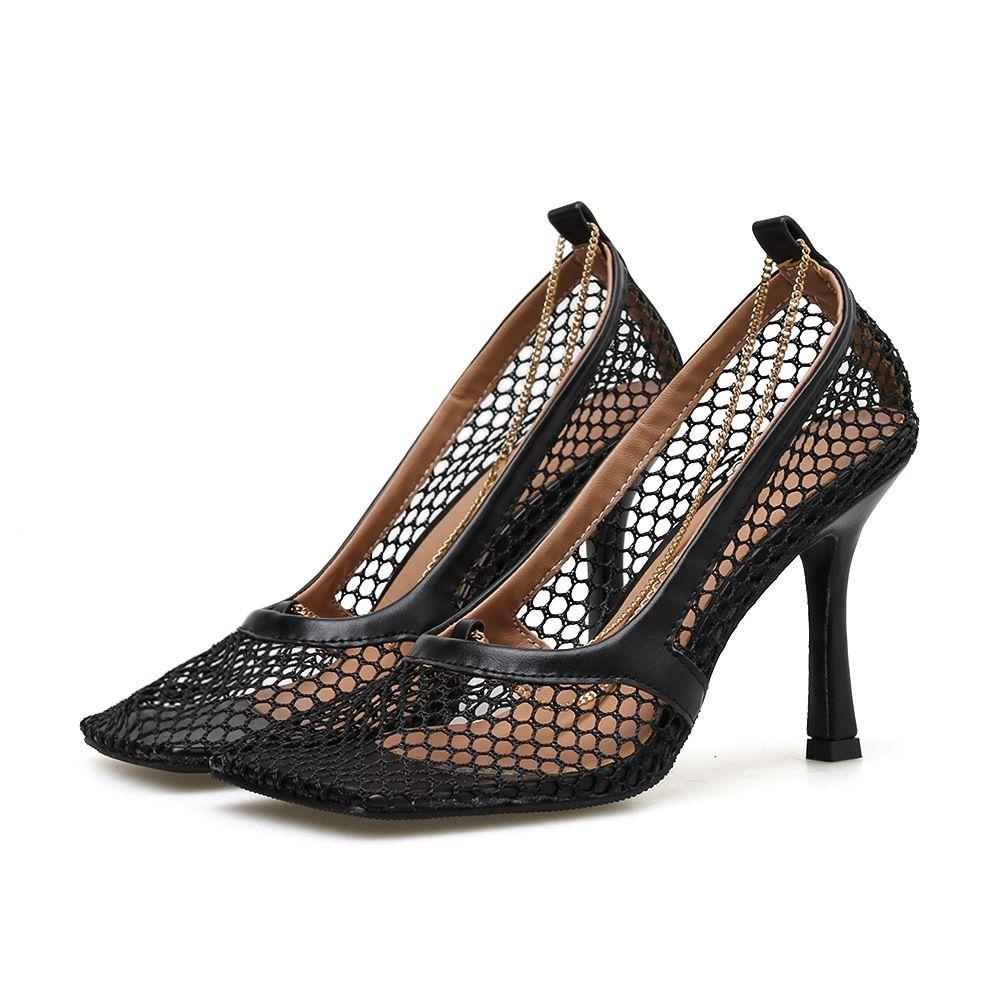 2020 الأحدث ساحة المرأة الصيف أحذية الكعب المصارع الصنادل والأحذية امرأة ساحة رئيسة شبكة الجوف خارج