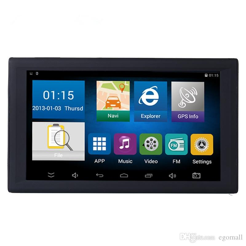 HD 9 Polegada Carro Navegação Navegação GPS Navegador Auto Carro Sat Nav 8 GB Mais Recente Mapas WinCE 6.0 FM Bluetooth Apoio AVIN Multi-línguas