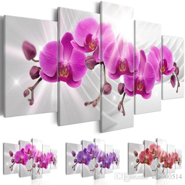 Современная живопись маслом на холсте абстрактные цветы Home Decor цветы орхидеи декоративные картины маслом на холсте стены искусства цветок картинки для Ливи