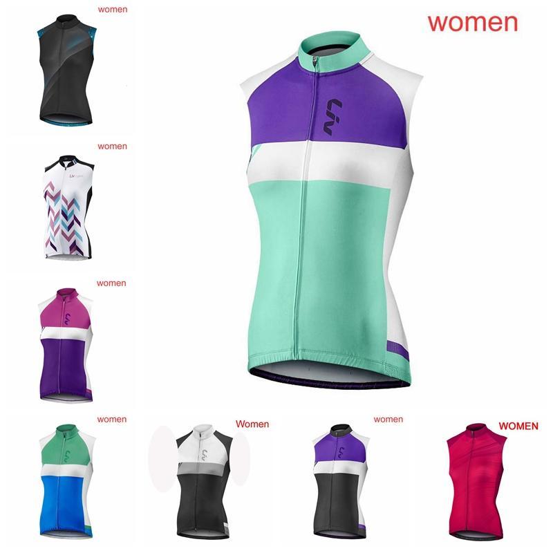 NUEVO 2019 LIV Pro Mujer Equipo Sin mangas Ciclismo Jersey Transpirable Bicicleta Ciclismo Ropa Ropa de bicicleta de secado rápido Ropa deportiva K052104