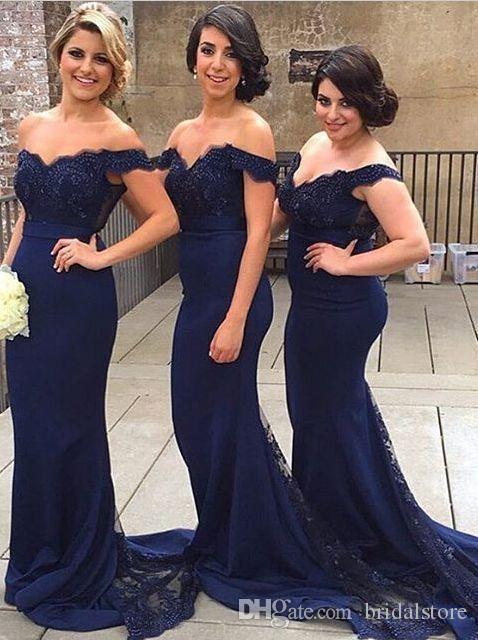 Темный военно-морской флот русалка с плечами платья подружки невесты плюс размер сексуальные без спинки выпускные платья дешевые халаты д'Ит приглашенные де-мал