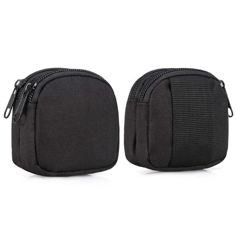 Piccolo sacchetto, mini borsa dell'organizzatore Army Molle Gear (impermeabile) (doppie tasche Layer) Nylon EDC Utility gadget Outdoor Wais