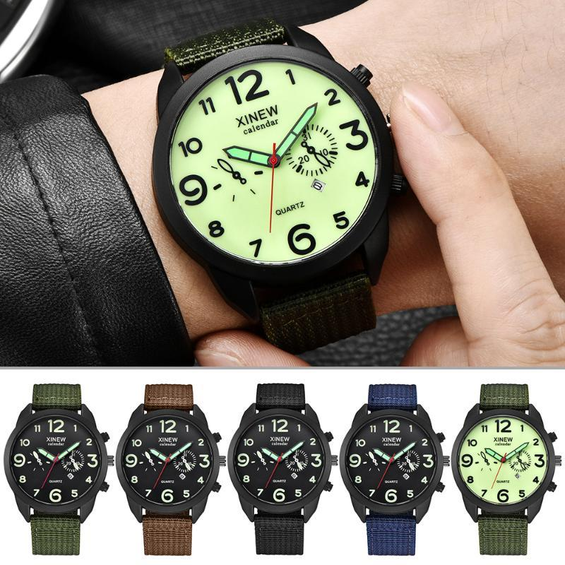 Canvas Montres Sport Homme Calendrier Horloge Relogio Masculino 2020 Top Marque Outdoor Hommes Quartz