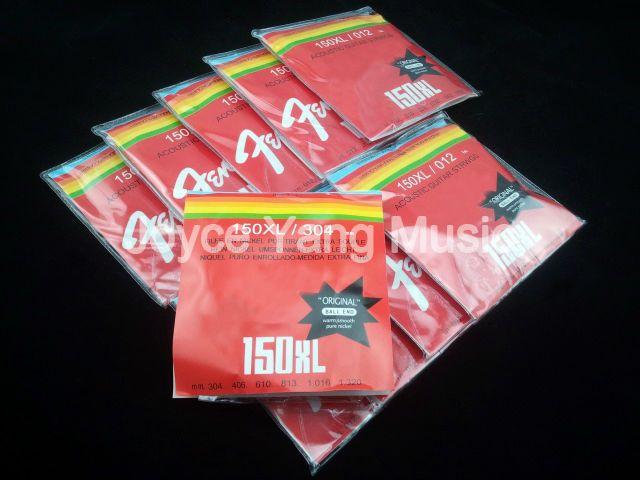 10 set di 150XL corde della chitarra acustica in acciaio SteelPhosphor bronzo 1 ° al 6 Strings 012-053 trasporto libero