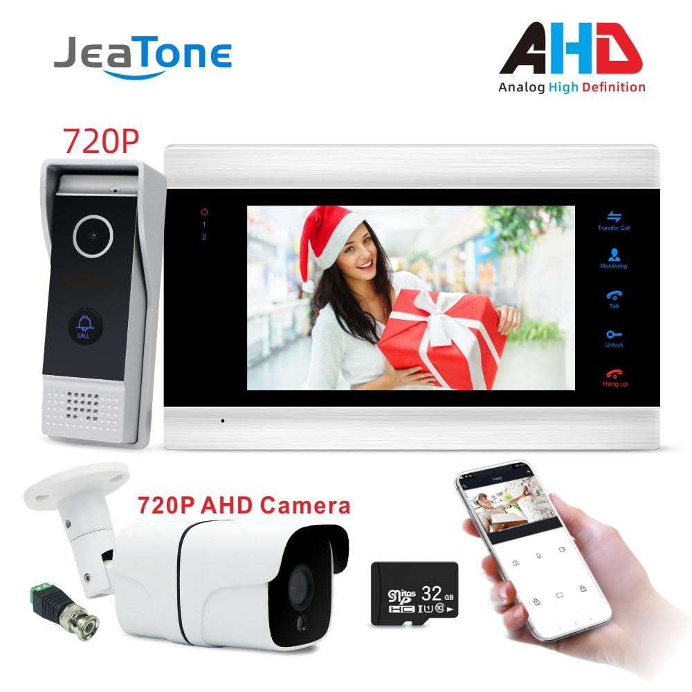 Wifi 7 inch Monitor Video Intercoms Home Security System Video Door Door phone with HD 720P camera support remote control Tuya smart APPLICATION