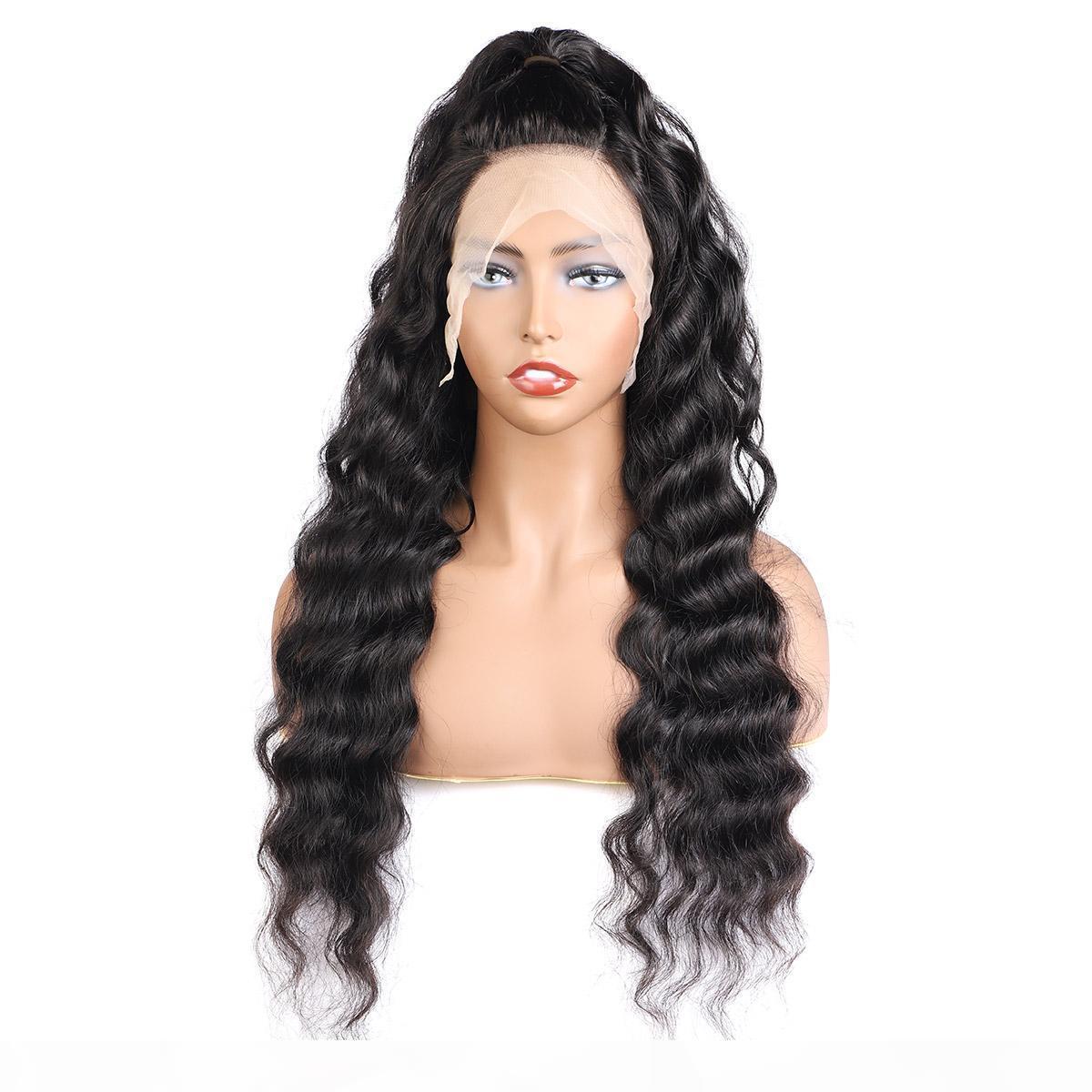 10A déchaîne Vague 4 * 4 Transparent Dentelle Fermeture Perruques Brésilien Cheveux raides perruques de cheveux humains avec bébé corps cheveux bouclés Vague Kinky