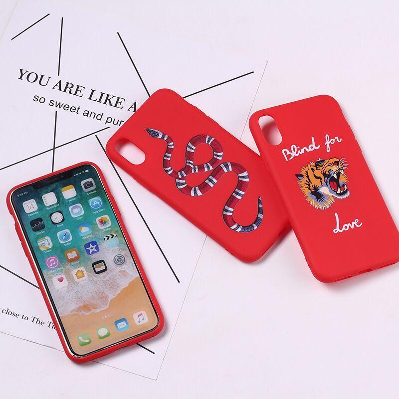 Новая мягкая TPU силиконовый телефон случае для Iphone X 6 6S 7 8 Plus 5S XS Max XR Samsung Galaxy S7 S8 S9 Гурт Plus Примечание 8 Tiger змея Окрашенные Обложка