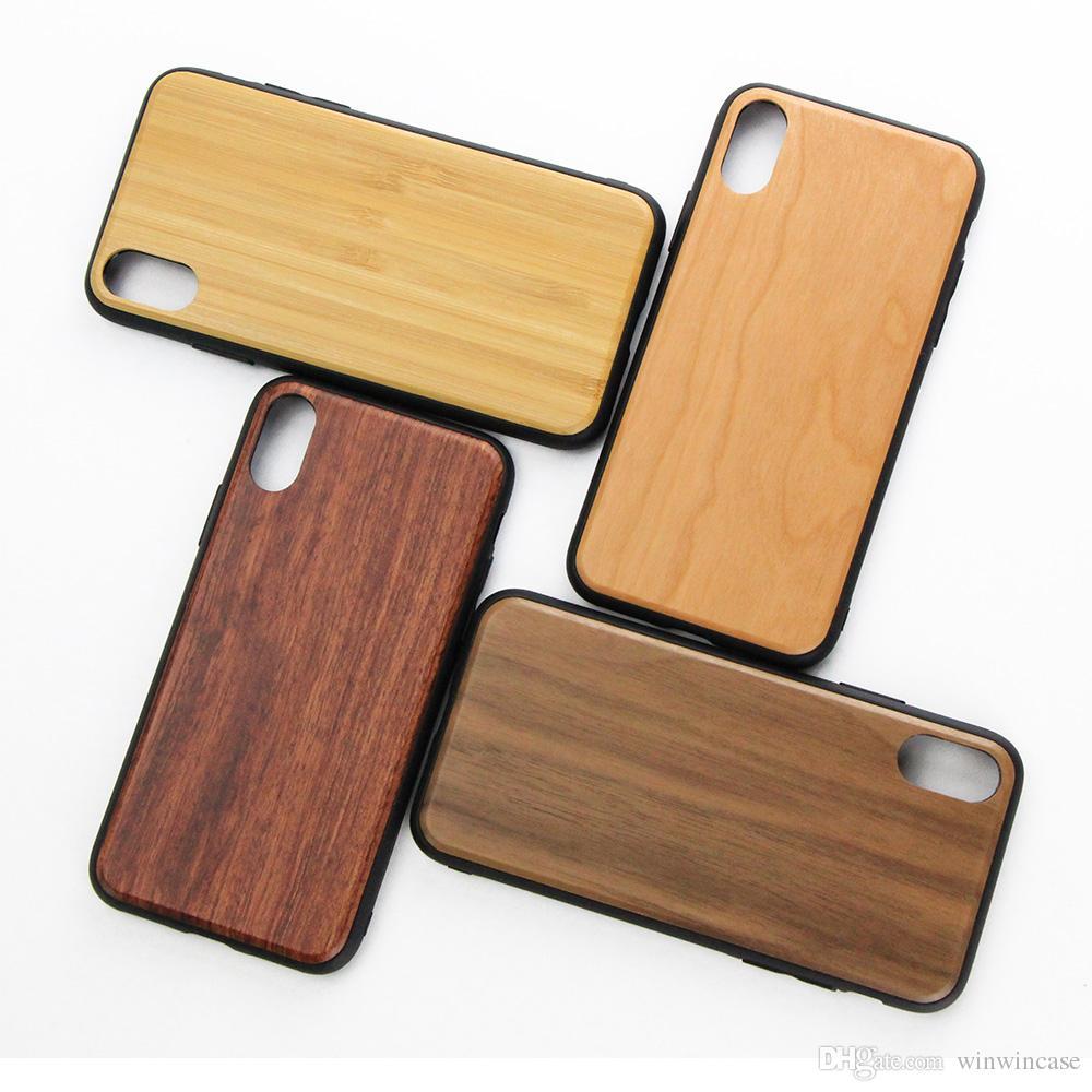 Высококачественный слой твердой древесины чехлы для iPhone 6plus 7plus 8plus роскошные гибридные задние крышки для iPhone 6 6s 7 8