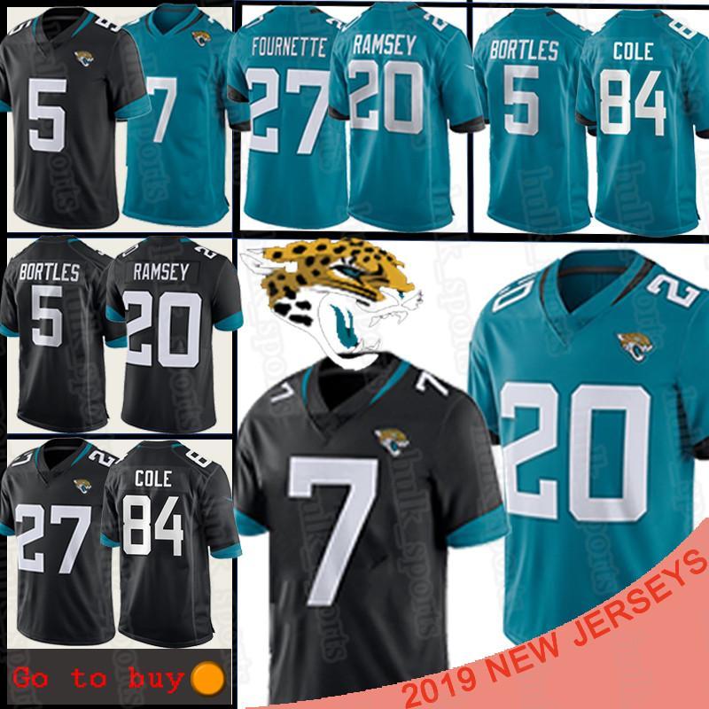 20 Jalen Ramsey Jacksonville 7 camisa de futebol Nick Foles Jaguar Jersey 84 Keelan Cole 5 Blake Bortles 27 Leonard Fournette