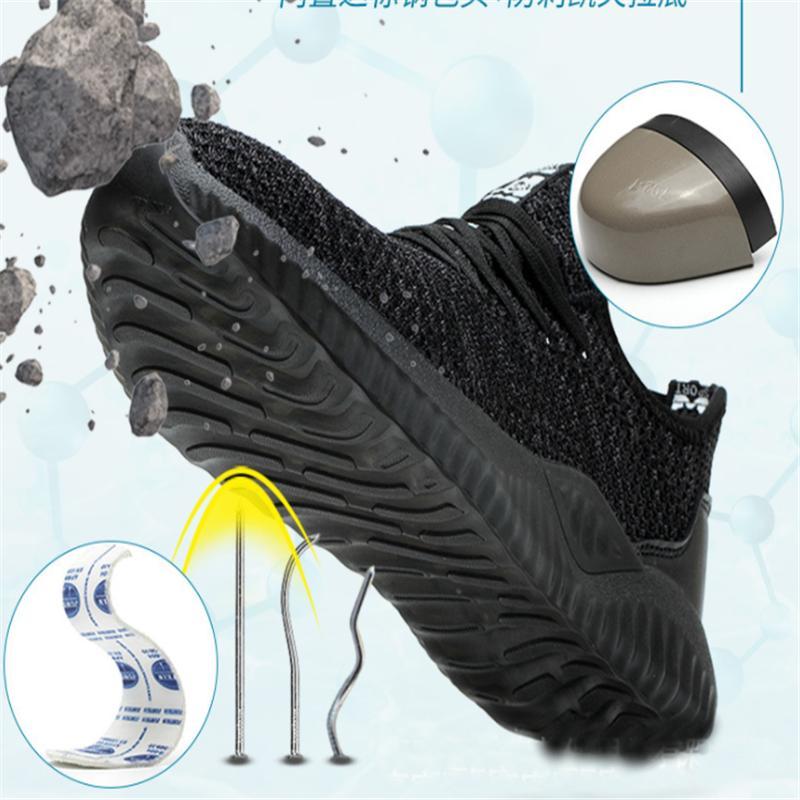 2019 Shoes Segurança do Trabalho dos homens novos Lightweight antiderrapante Cap Toe Sneakers Aço fundo macio Botas proteção confortável