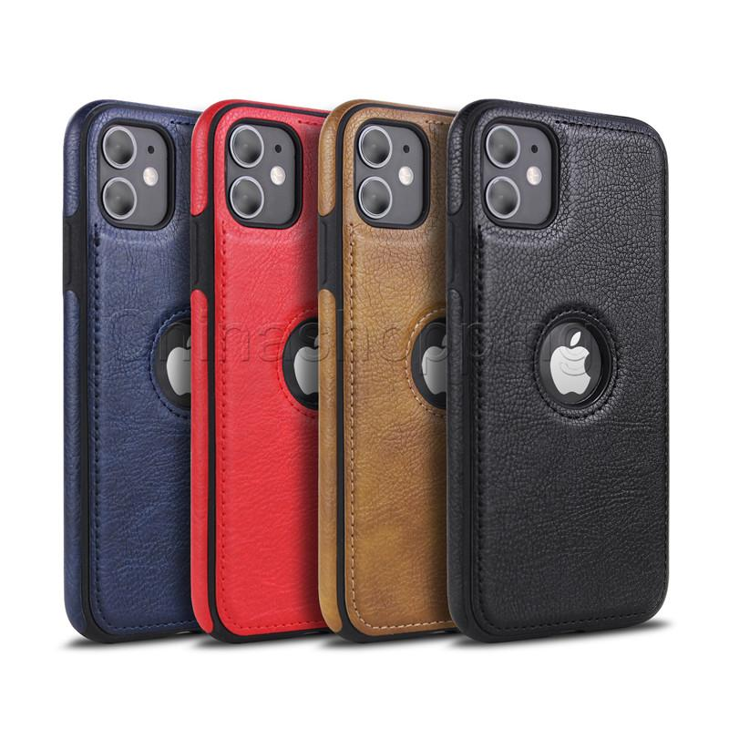 Caso de couro de negócios soft tpu Capas de proteção completa para iPhone 12 mini 11 pro máx x xr xs max 8 7 6 s mais