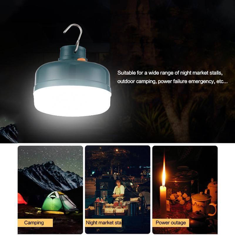 12W 충전식 전구, 광 자기 재충전 빛 야외 캠핑 정전 비상 조명 10047 주도
