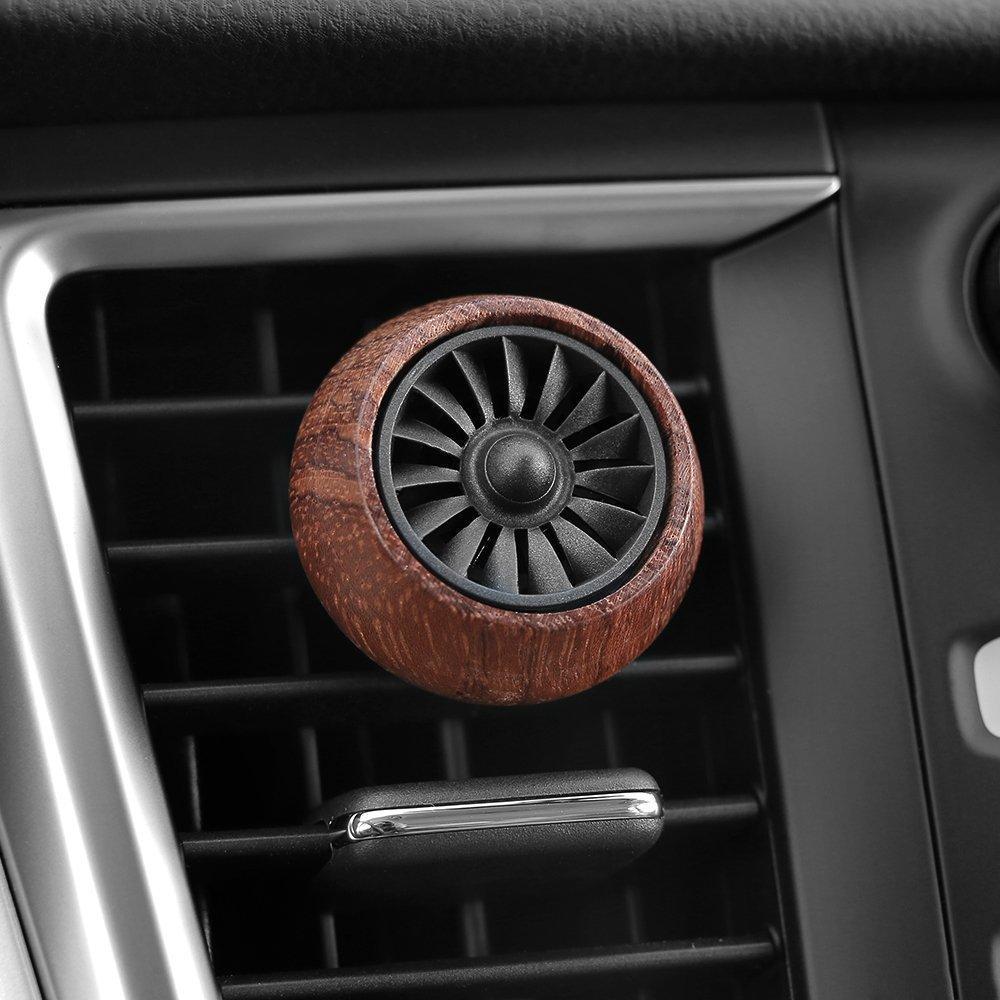 Fragancia coche difusor ambientador de aire de ventilación del coche del clip de madera esencial del difusor del purificador de aceite con 3 de carga de aceite Pad3