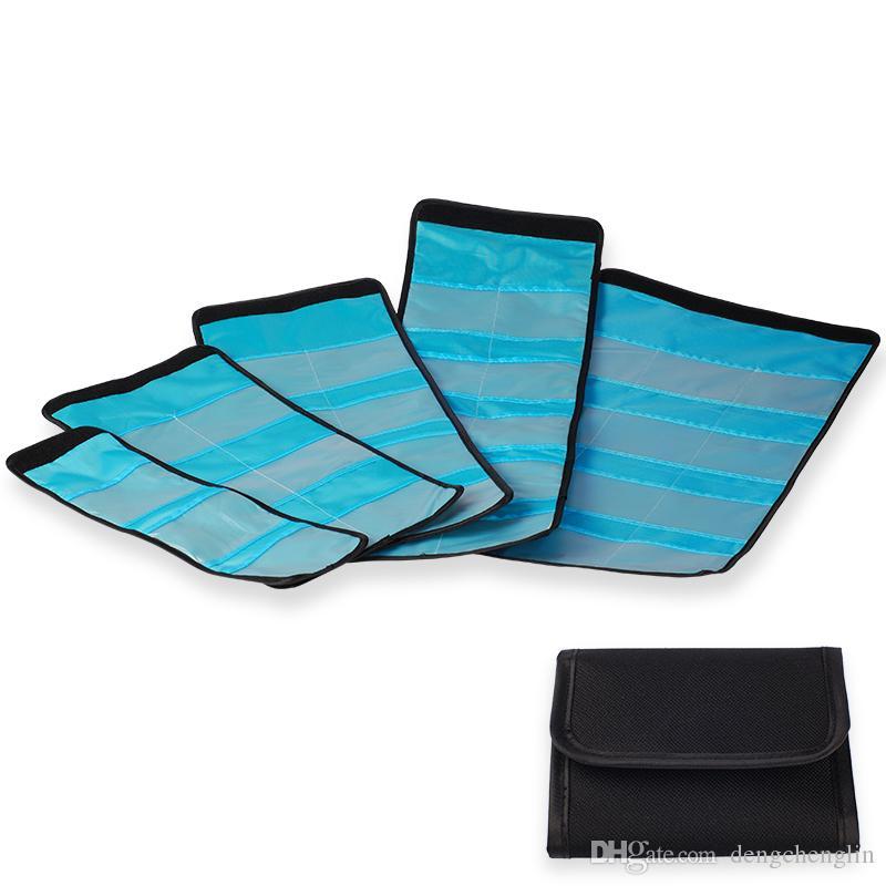 Kamera UV CPL FLD ND Farbfilter Wallet Linse Adapter Ring Aufbewahrungstasche Hülle Beutel Halter 3 6 10 12 Stick X