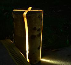 Odun kütüğünü çatlak mum oduncular ahşap reçine bahçe lambası ağaç benzersiz LED aydınlatma huş kapalı outdoor ışıkları
