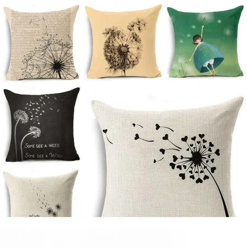 """New 18/"""" Cotton Linen Pillow Case Cover Sofa Waist Throw Cushion Cover Home Decor"""