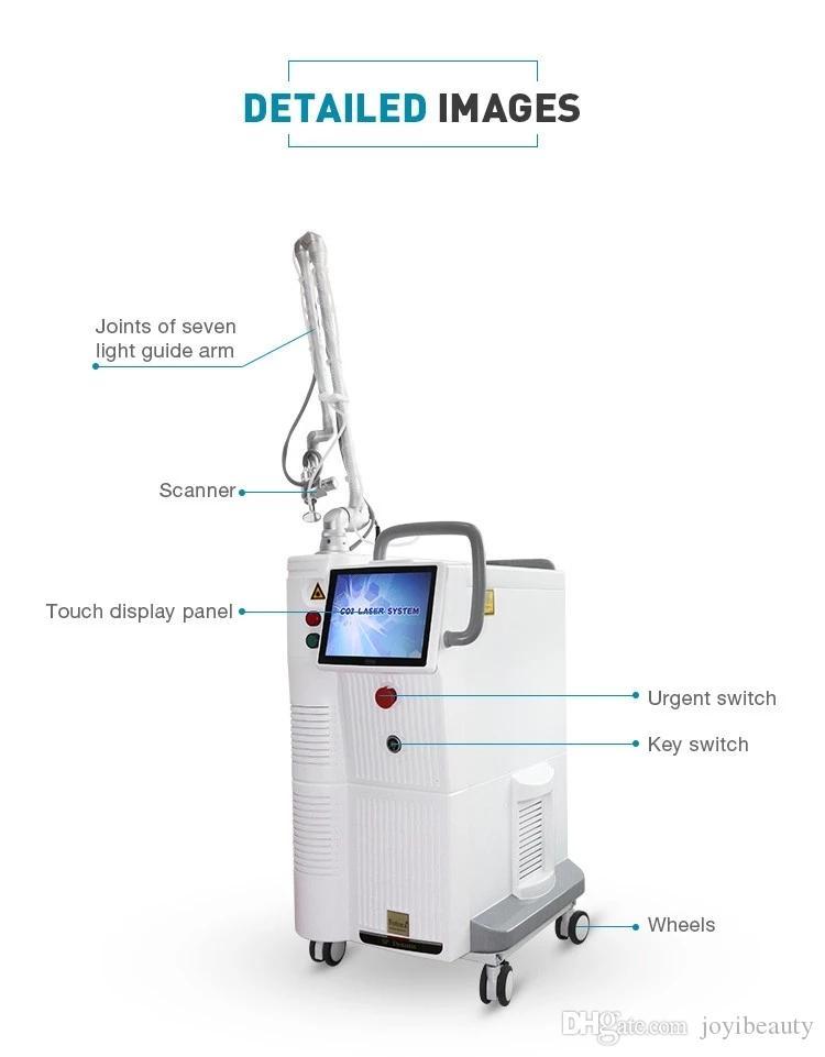 La piel sin dolor Mujer privada terapia con láser de CO2 fraccional rejuvenecimiento vaginal caliente Sistema de Cuidado de la cicatriz de la máquina de eliminación
